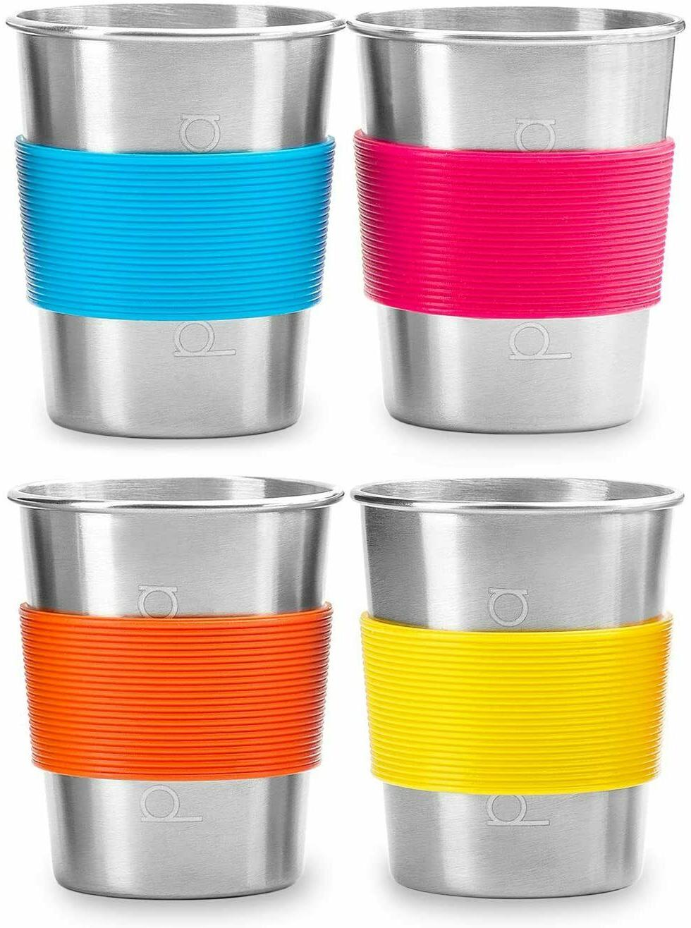 4pk 8oz stainless steel cups for kids