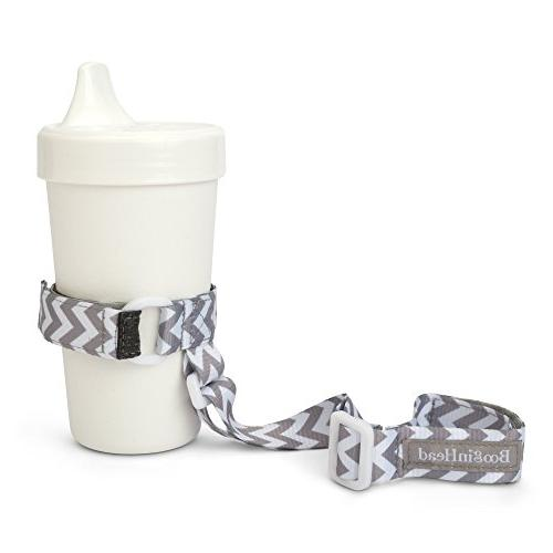 BooginHead SippiGrip Training Bottle Leash - White and Grey