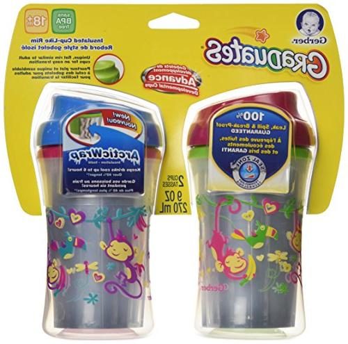 Gerber Insulated Like Rim Sippy Colors and