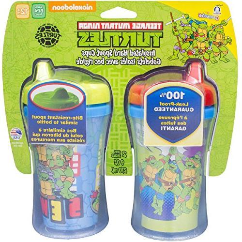 Gerber Nickelodeon Teenage Mutant Ninja Hard Spout Sippy Cup, 2-Pack