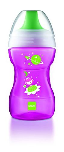 MAM Learn to Drink Cup, Girl, 9 Ounces, 1-Count