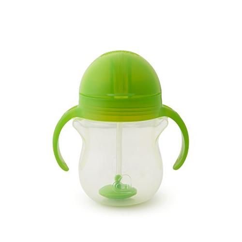 Munchkin Lock Weighted Straw Cup, 7 Green