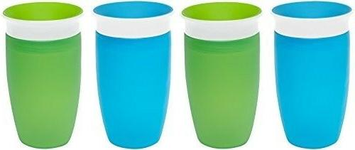 Munchkin Miracle 360 Sippy Cup - Green/Blue - 10 oz - 2 ct -