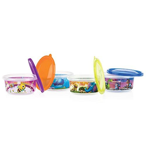 pack Of 4 Pack 4 Nuby Stackable Bowls And Lids