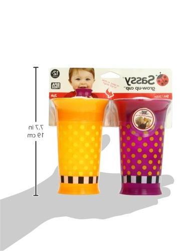 Sassy Up Cup, Purple/Orange, Ounce