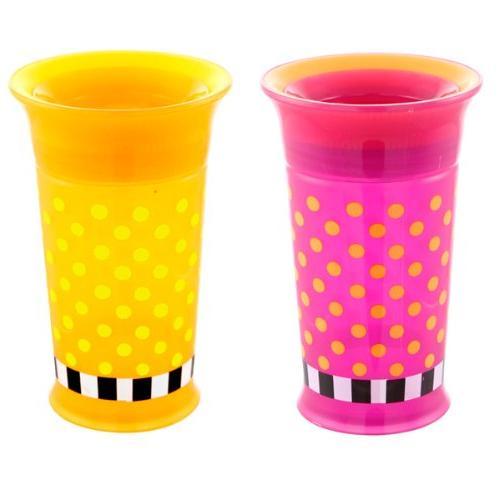 Sassy 2 Up Cup, Purple/Orange, 9 Ounce