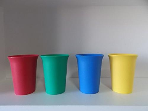Set of 4 Vintage Tupperware Child Bell Tumbler Cups