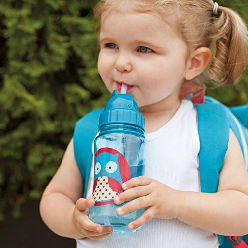 Skip Hop Straw Toddler Sippy Cup, Owl
