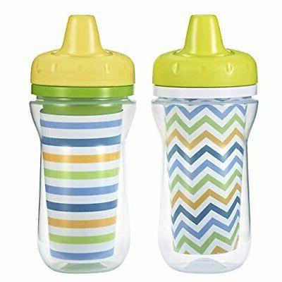 The First Years 2 Piece Insulated Hard Spout Cup, White/Gree