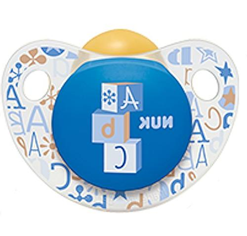 adore pacifier blue abc soother