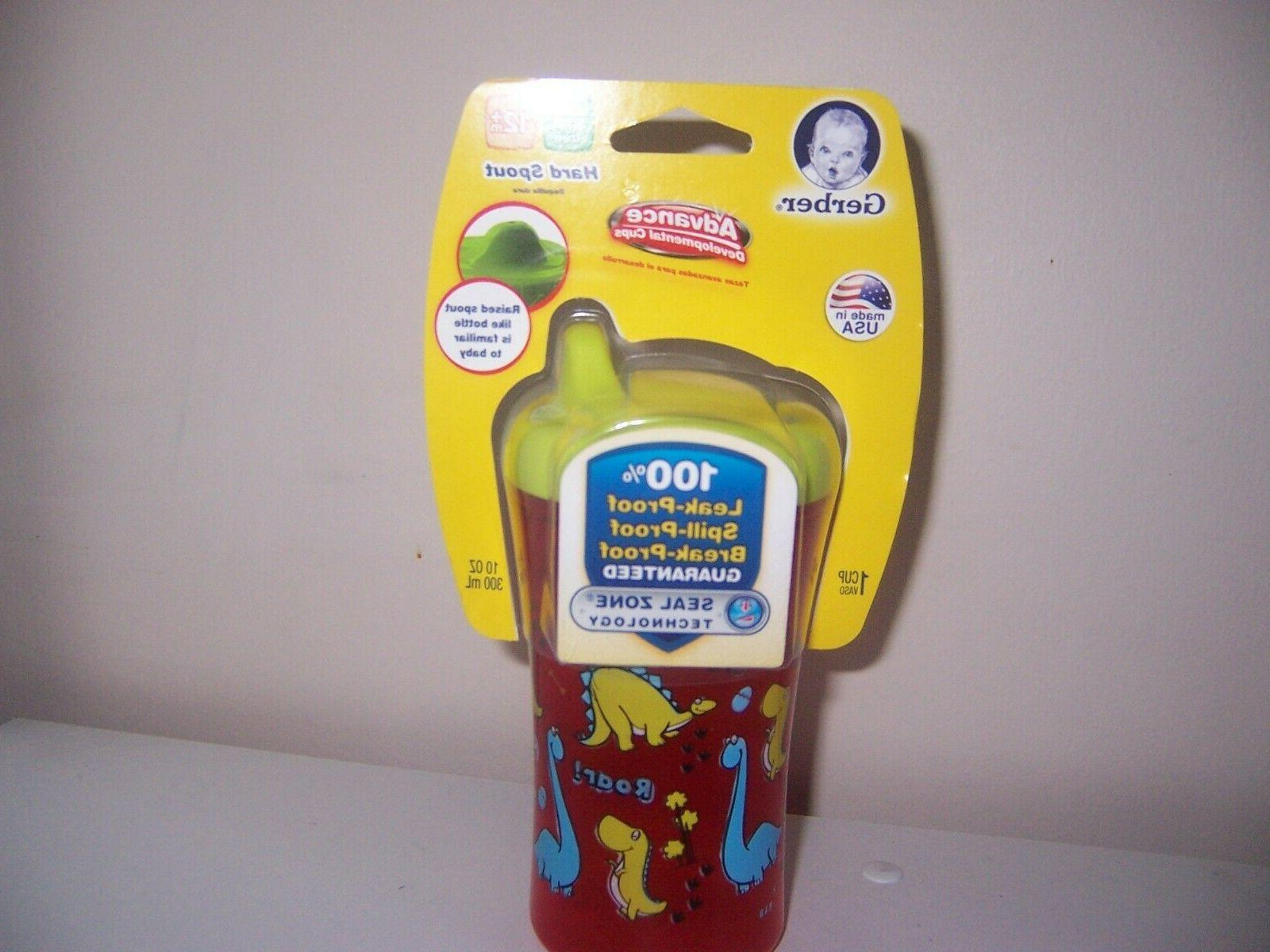 advance hard spout sippy cup red dinosaurs