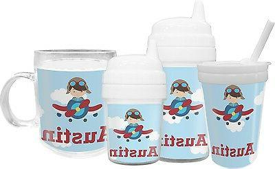 Airplane Pilot Sippy Cup with
