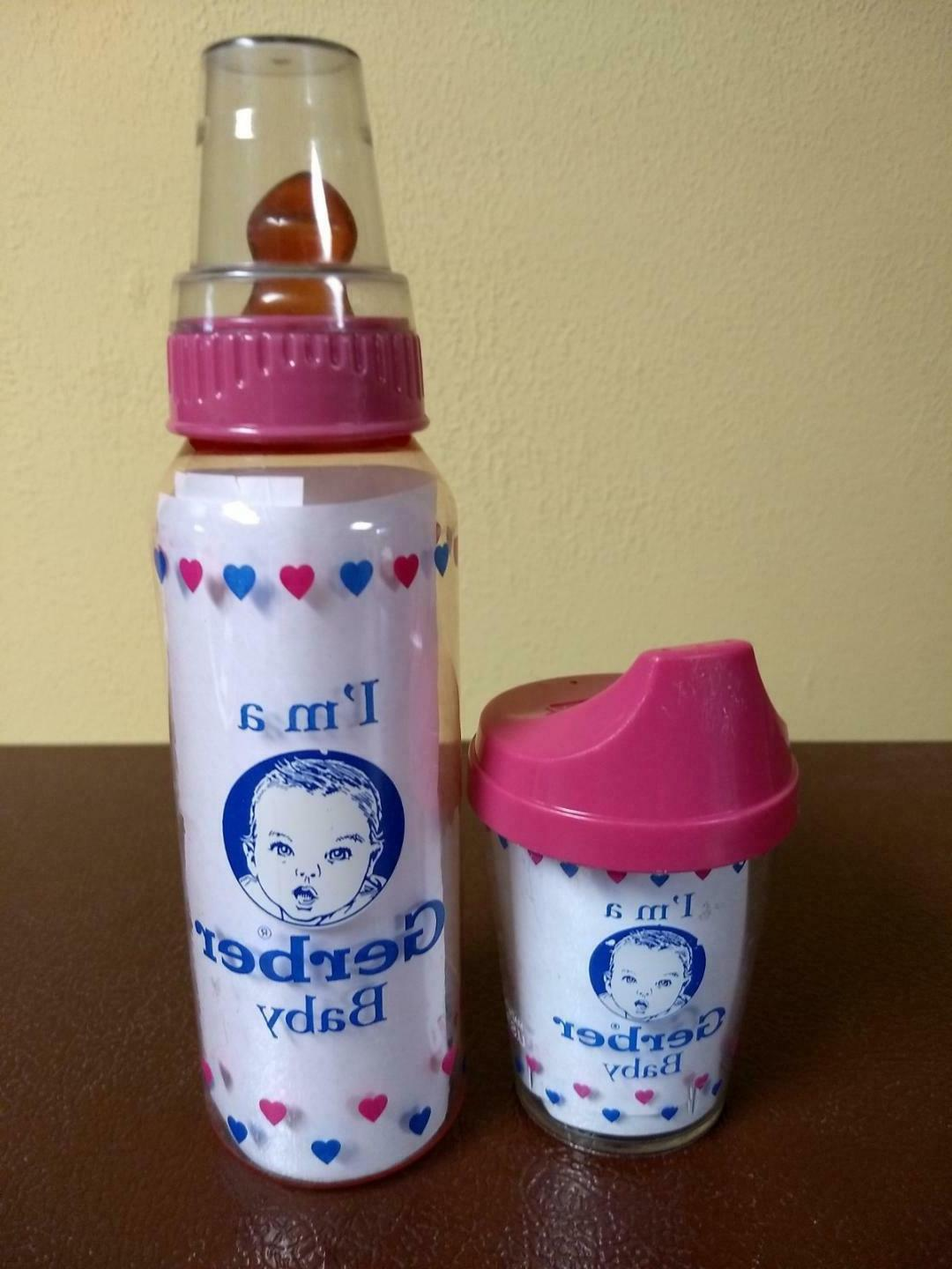baby bottle and matching sippy cup