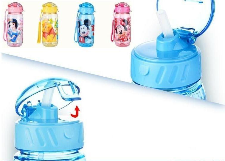 Baby Kids Children Disney School Water Straw Bottle