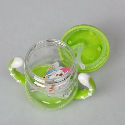 US Nuby Beaker Straw Non Spill Leak Drinking
