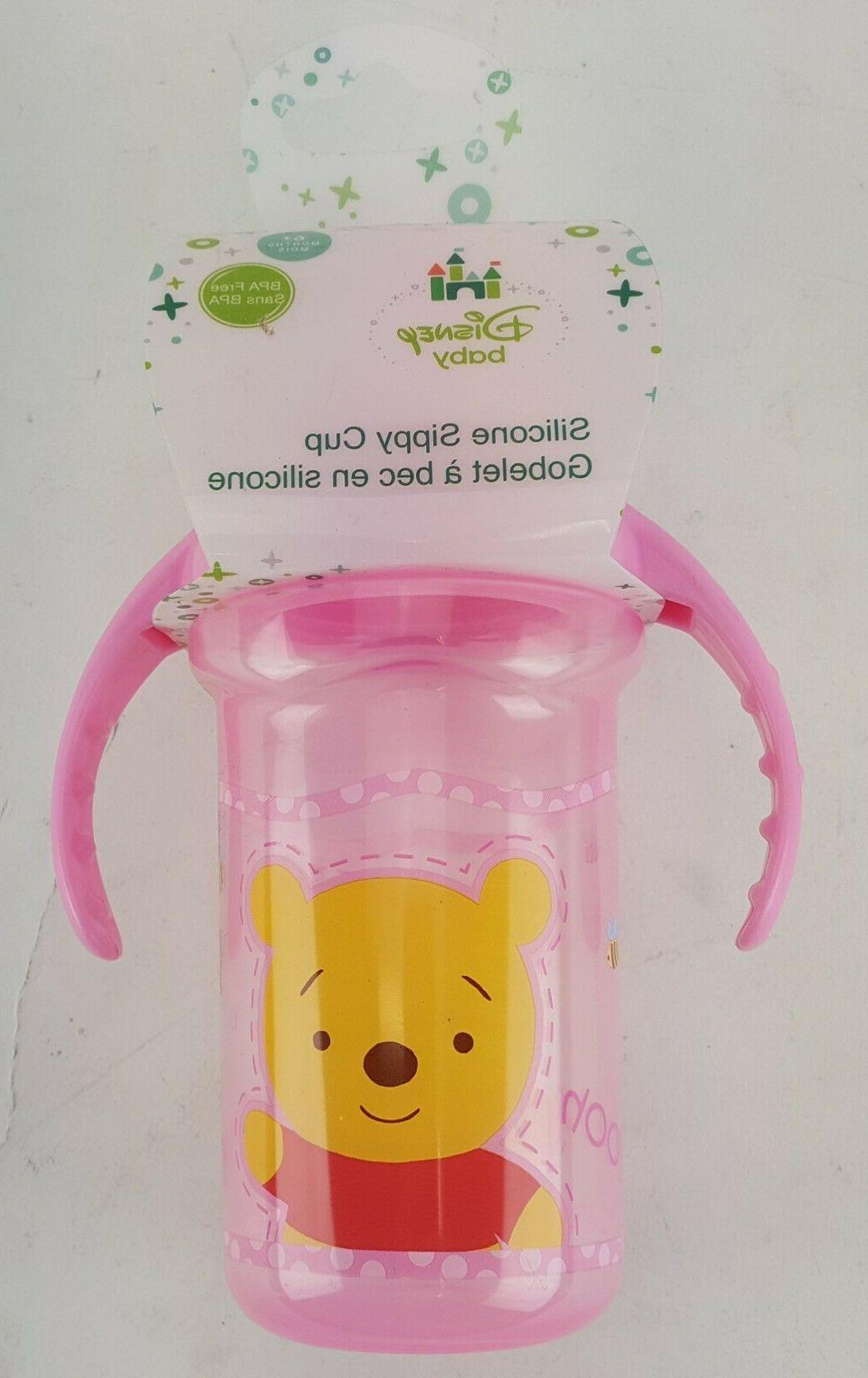 baby silicone sippy cup winnie the pooh