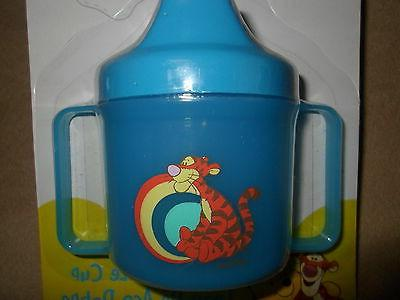 Blue BPA Free Disney Tigger Twin Handle Sippy Cup Months For 6 NEW IN PACKGE!