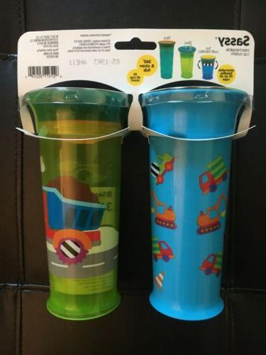 Sassy Grow Up Sippy Cup 2-Pack NEW Baby