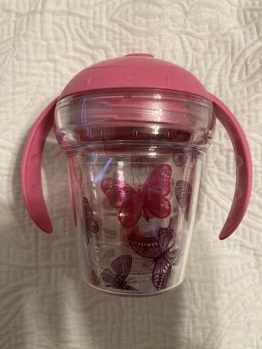 BRAND TERVIS SIPPY PINK BUTTERFLIES CAROLINA GIRL 6