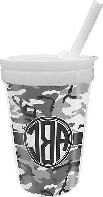 camo sippy cup with straw personalized