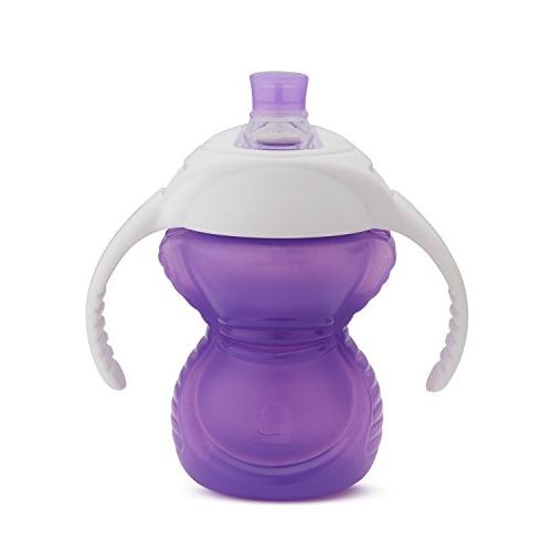 Click Lock Bite Trainer Cup, Blue/Purple, 7 Ounce,