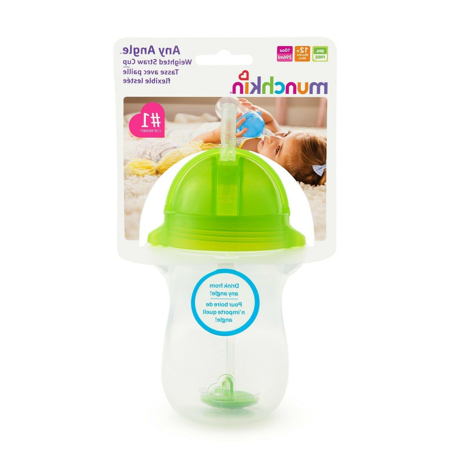 Munchkin Click Lock Weighted Straw Cup 10 oz, Spill Proof