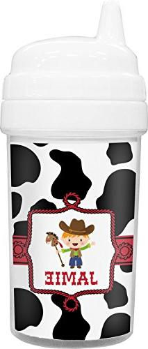 Cowprint w/Cowboy Toddler Sippy Cup