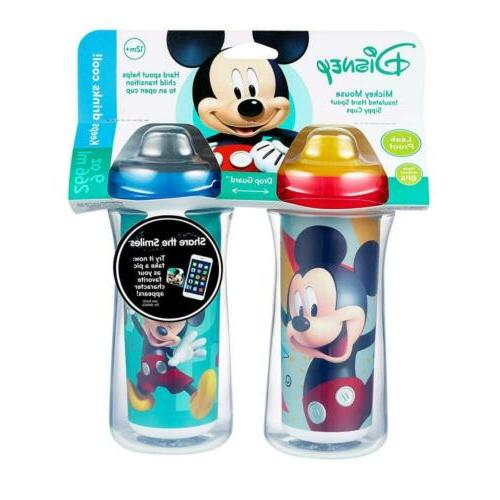 Disney Mickey Mouse Hard Sippy 9 2pk Keep Drink