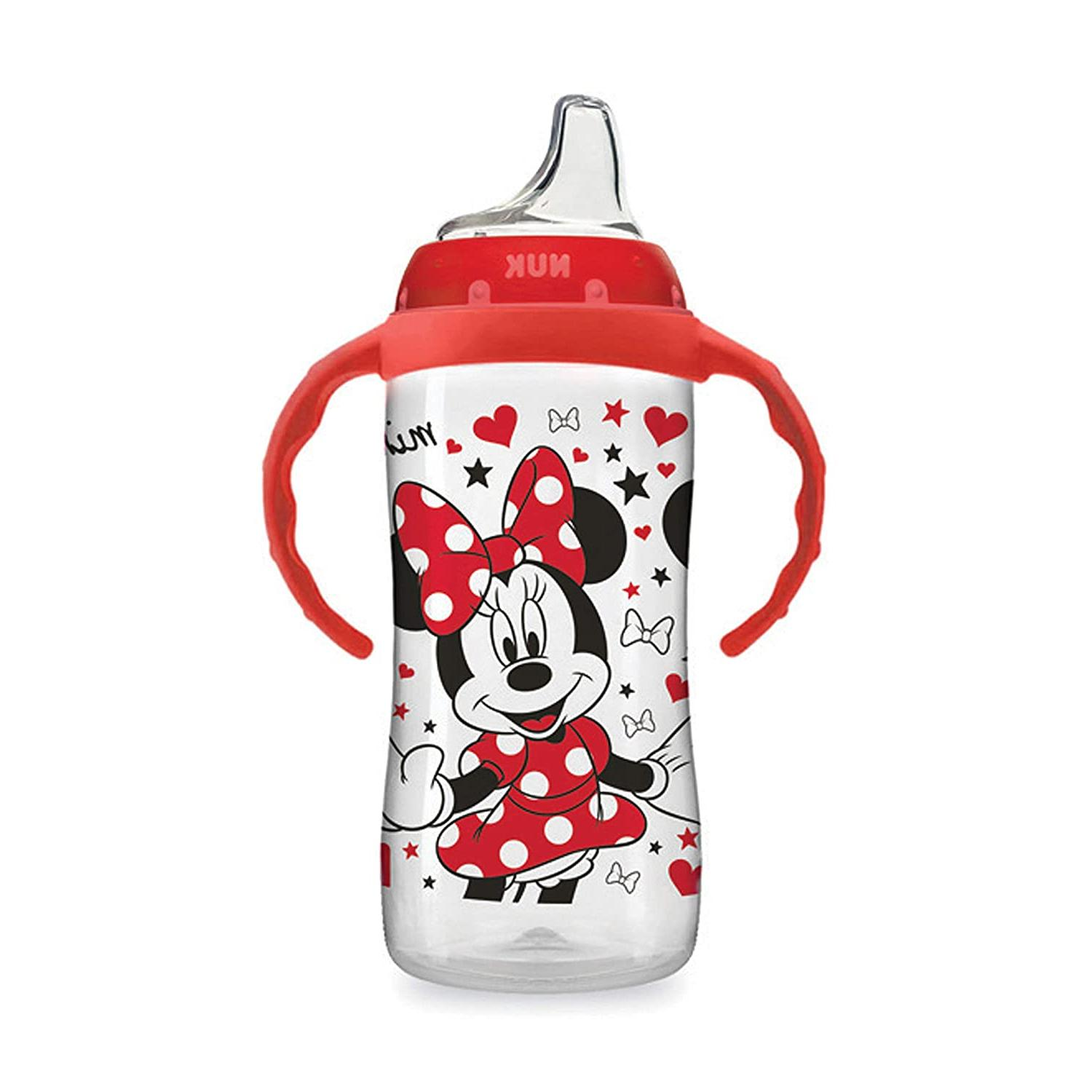 10oz 1pk NUK Disney Large Learner Sippy Cup Minnie Mouse