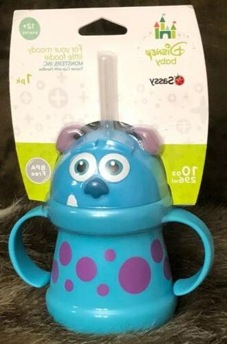 disney monsters straw sippy cup