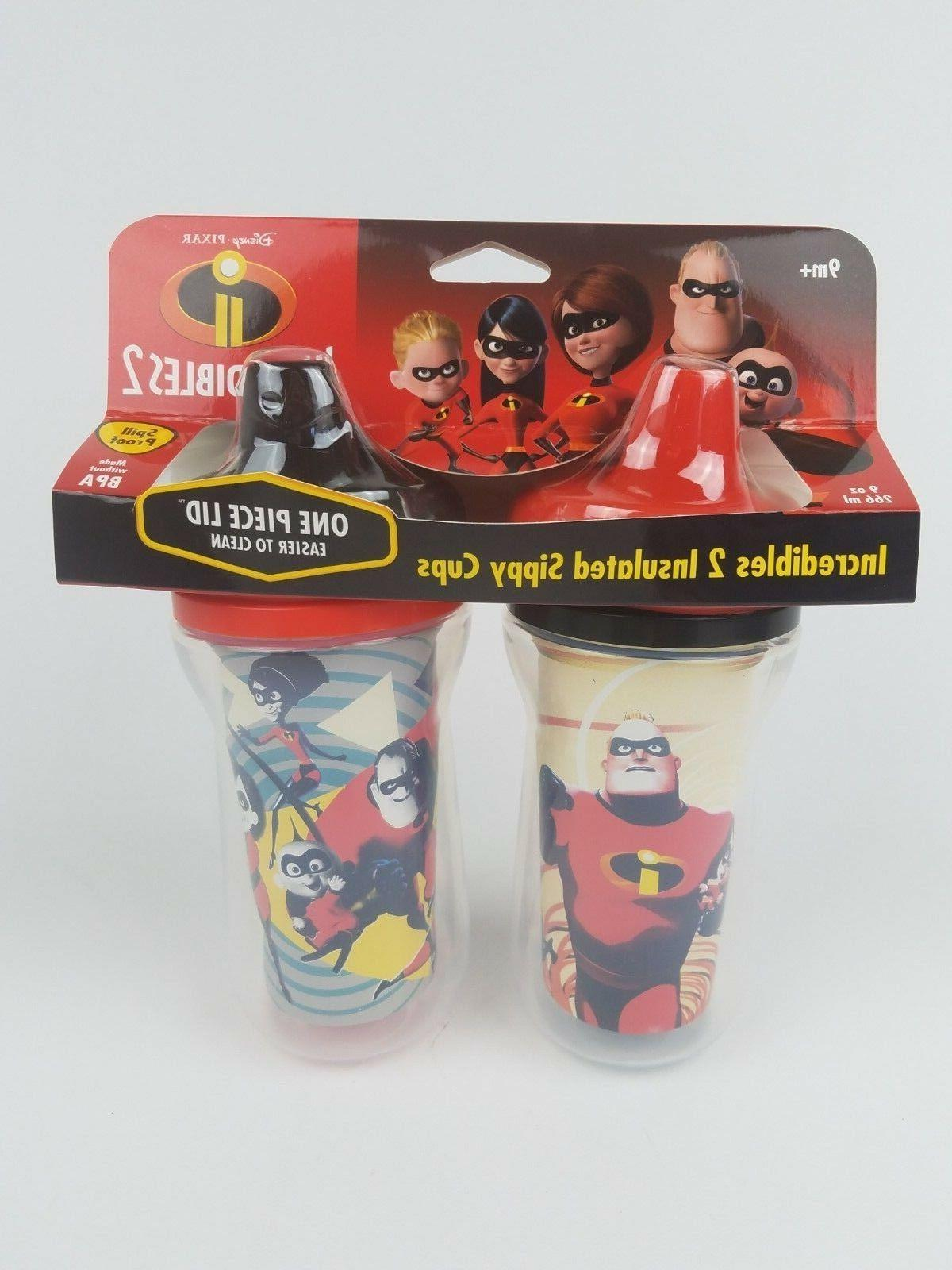 disney pixar insulated sippy cups