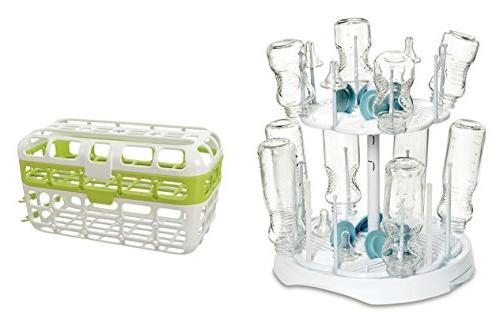 Munchkin High Capacity Drying Rack And Dishwasher Basket
