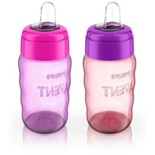 Philips Easy Sippy Stage 2 Pink Silicone 9 Ounce