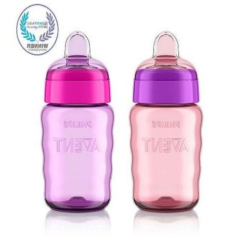 Philips My Sippy Cup Baby Girl Stage Pink Purple Silicone 9