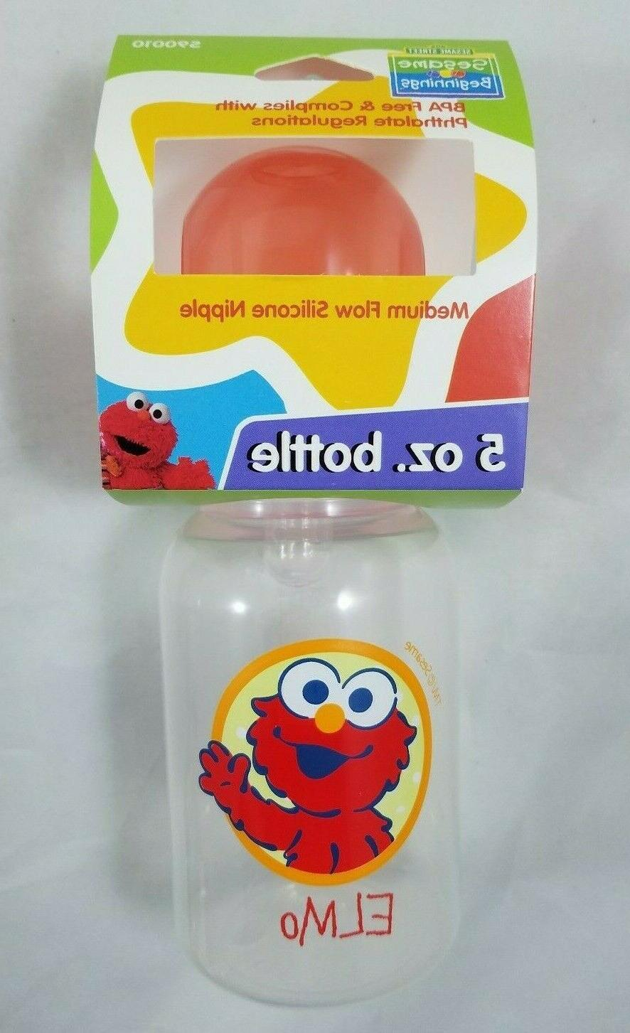 Elmo 8oz Sippy oz Pacifier Girl Baby
