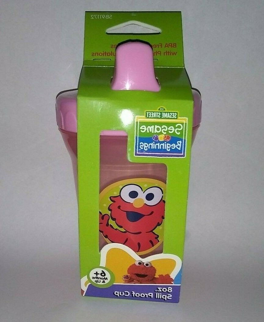 Elmo Cup PINK Proof Plastic Baby Toddler