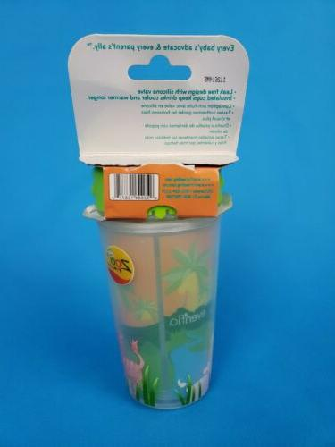 Evenflo Girls Green Zoo Friends Sippy ~ month 10 Oz Insulated