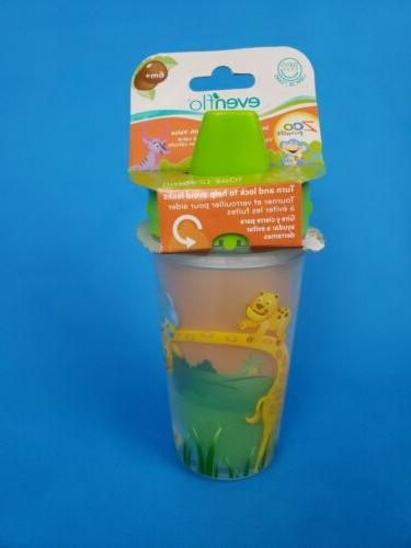 evenflo girls green zoo friends sippy cup