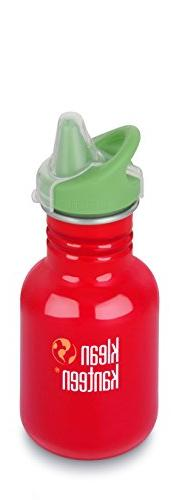 Klean Kanteen Kid's Farm House Stainless Steel Sippy Bottle,