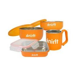 Thinkbaby Feeding Set - BPA Free - Orange