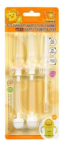 Simba Flip-It Training Cup 2 Piece Replacement Straw Set wit