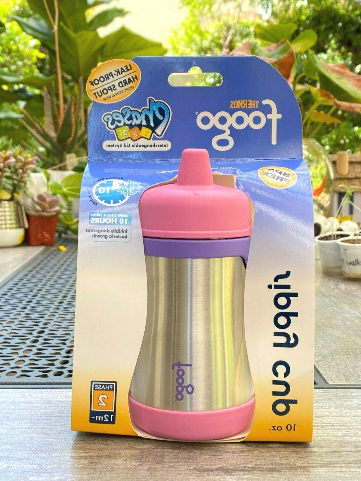 Foogo Phases 10 oz Leak Proof Sippy Cup in Pink