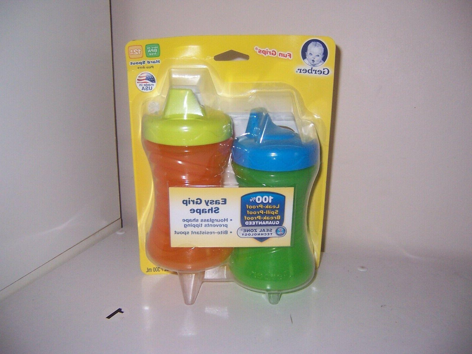 fun grip shape sippy cup new green