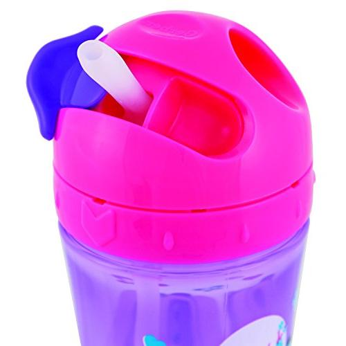 Gerber Graduates Advance Easy Straw Cup with Zone Technology, 10-Ounce, Girl Colors