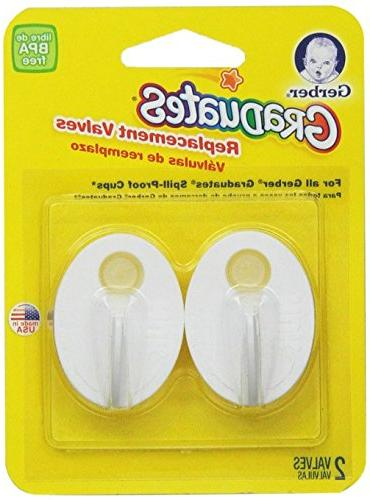 Gerber Grips spill Proof Cup, 2 Count Replacement Valves