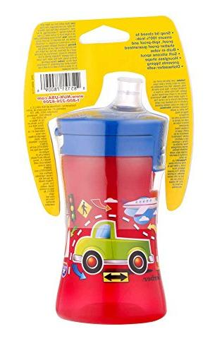 Gerber Graduates Advance 1-Piece Sippy Cup in Boy Designs, 10-Ounce