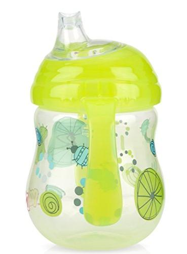 Nuby 3 N' Sip Cup, Blue/Yellow/Red