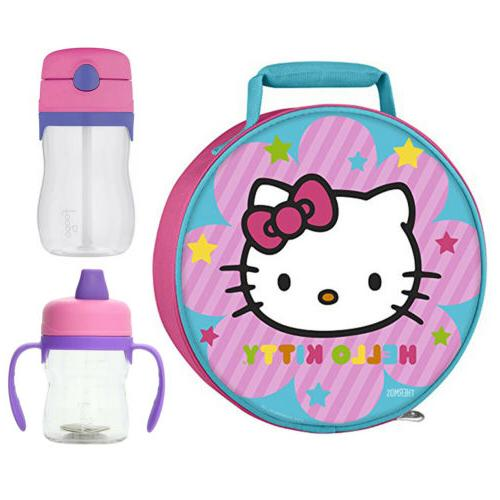 Thermos Hello Kitty Novelty Lunch Kit w/ 8oz Sippy Cup & 11o