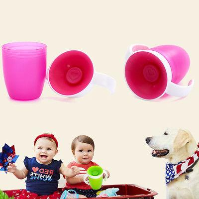 Kids Baby Drinking Cup Sippy No Spill Handles