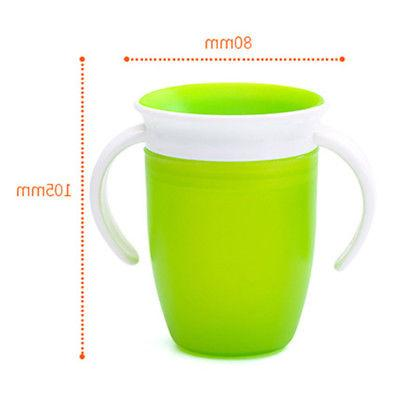 Kids Baby Drinking Sippy Beaker No Spill With Double Handles